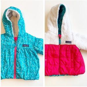 Patagonia little girls REVERSIBLE puffer jacket